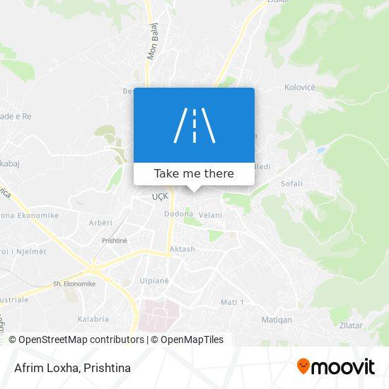 Afrim Loxha map