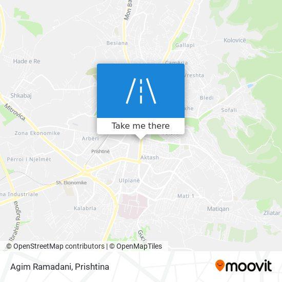 Agim Ramadani map