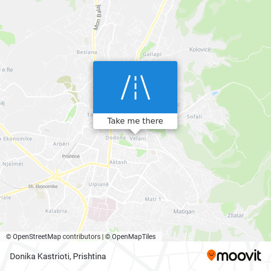 Donika Kastrioti map