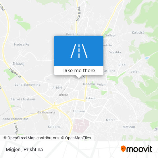 Migjeni map