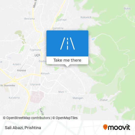 Sali Abazi map
