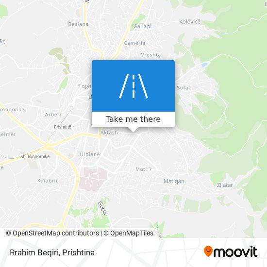 Rrahim Beqiri map