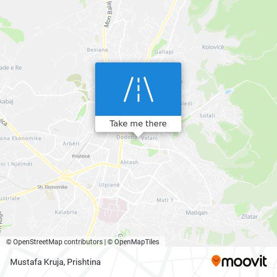 Mustafa Kruja map