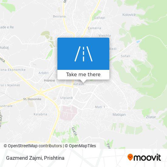 Gazmend Zajmi map