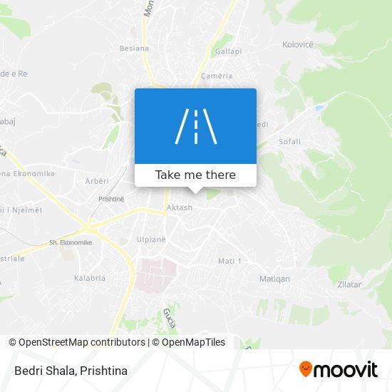 Bedri Shala map
