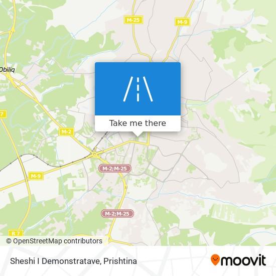 Sheshi I Demonstratave map