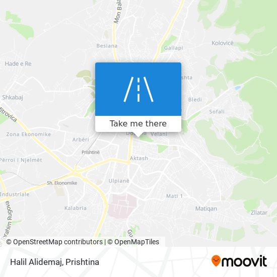 Halil Alidemaj map