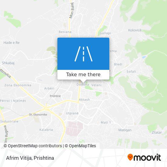 Afrim Vitija map
