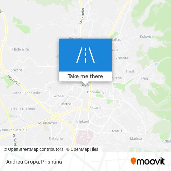 Andrea Gropa map
