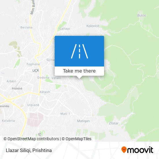 Llazar Siliqi map