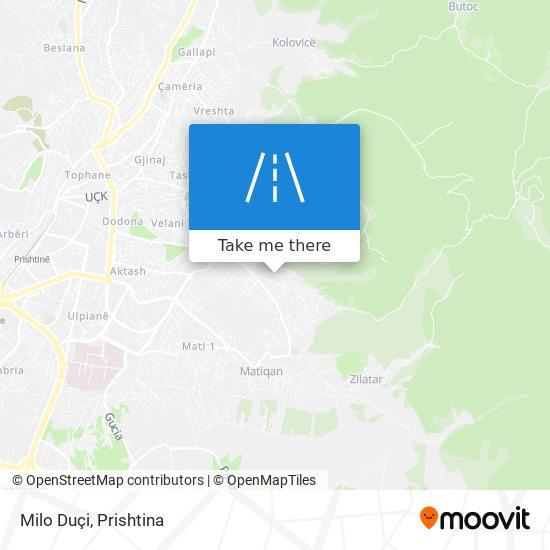 Milo Duçi map