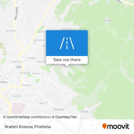 Rrahim Kosova map