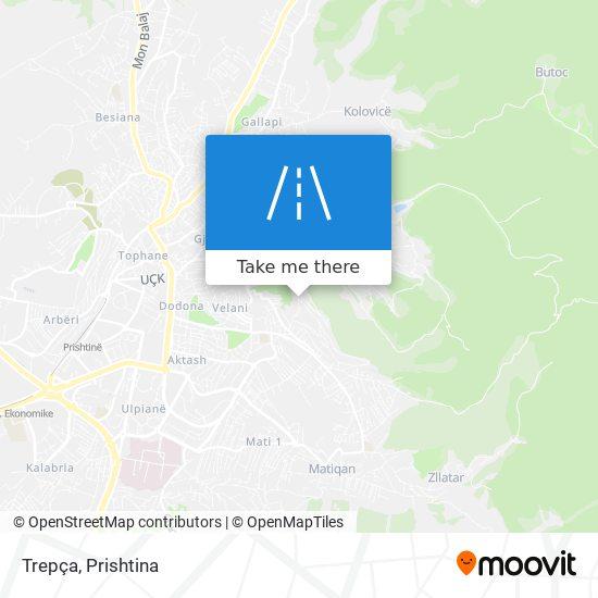 Trepça map