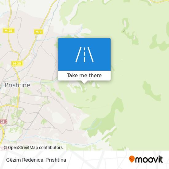 Gëzim Redenica map