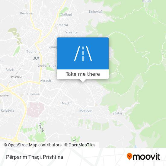 Përparim Thaçi map