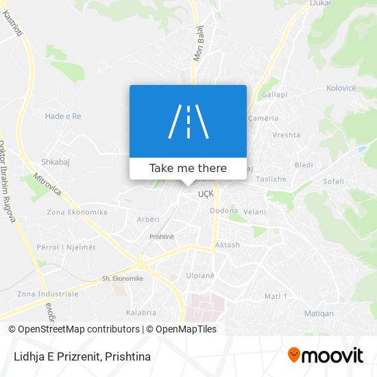 Lidhja E Prizrenit map