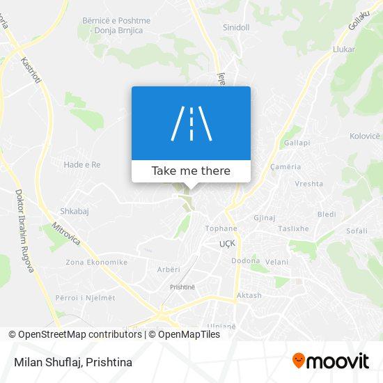 Milan Shuflaj map