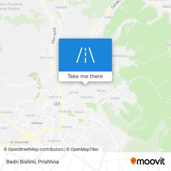 Bedri Bislimi map