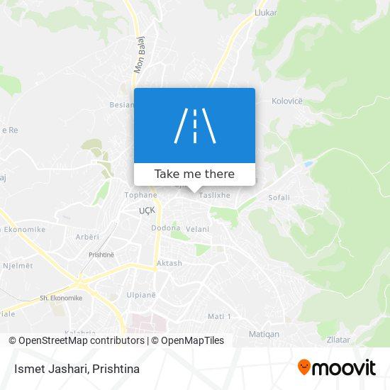 Ismet Jashari map