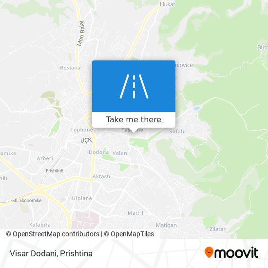 Visar Dodani map