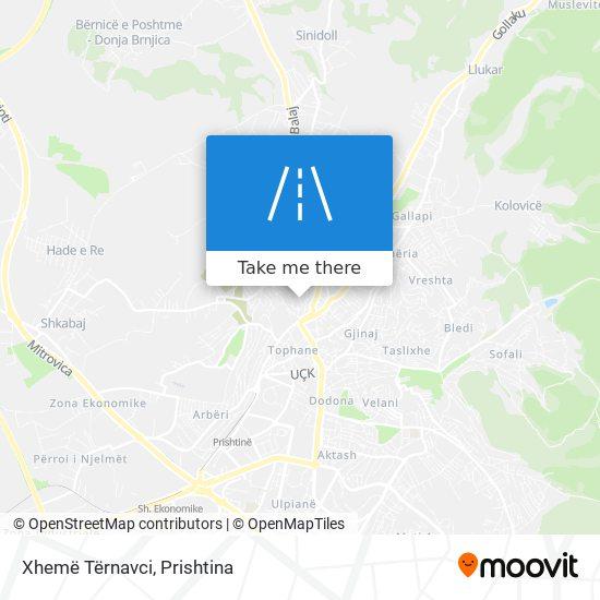 Xhemë Tërnavci map
