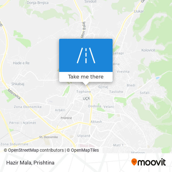 Hazir Mala map