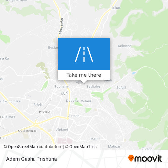 Adem Gashi map