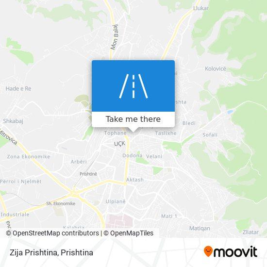 Zija Prishtina map