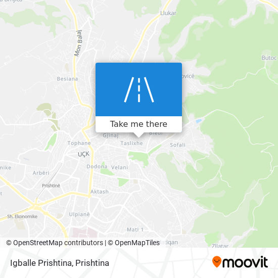 Igballe Prishtina map