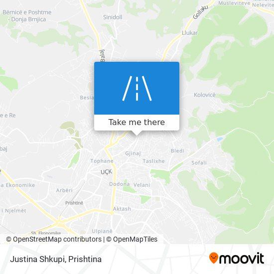 Justina Shkupi map