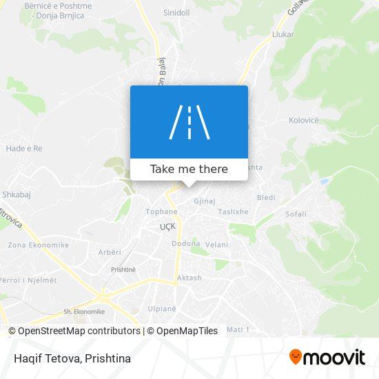 Haqif Tetova map