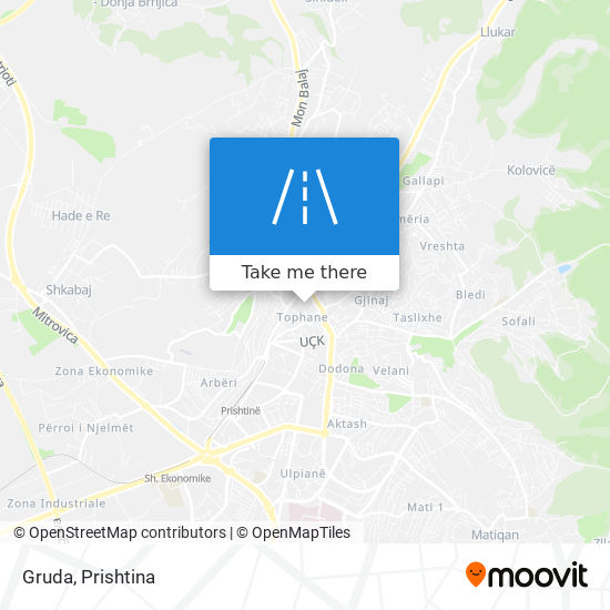 Gruda map