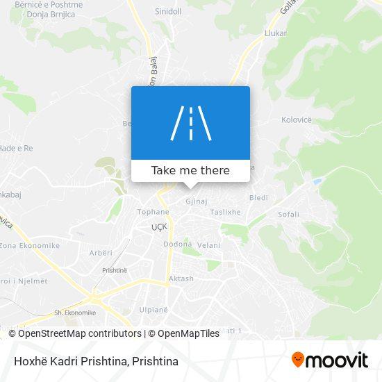 Hoxhë Kadri Prishtina map