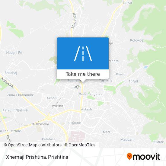 Xhemajl Prishtina map