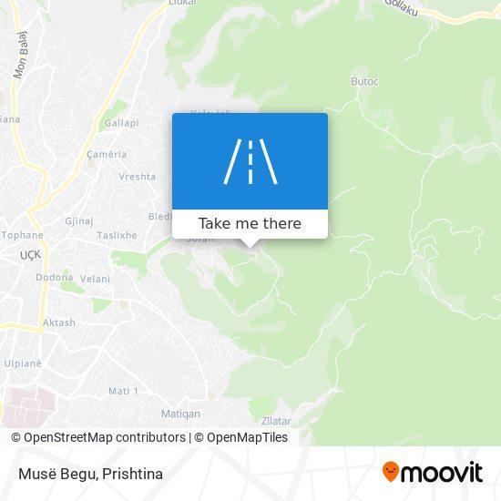 Musë Begu map