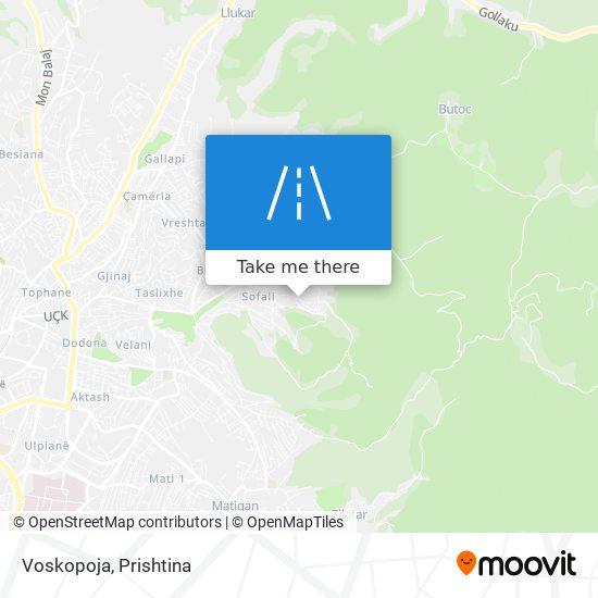 Voskopoja map