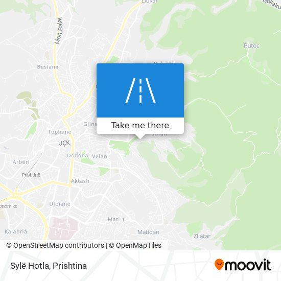 Sylë Hotla map