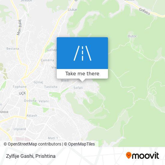 Zylfije Gashi map