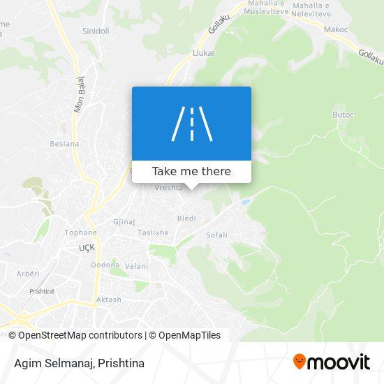 Agim Selmanaj map