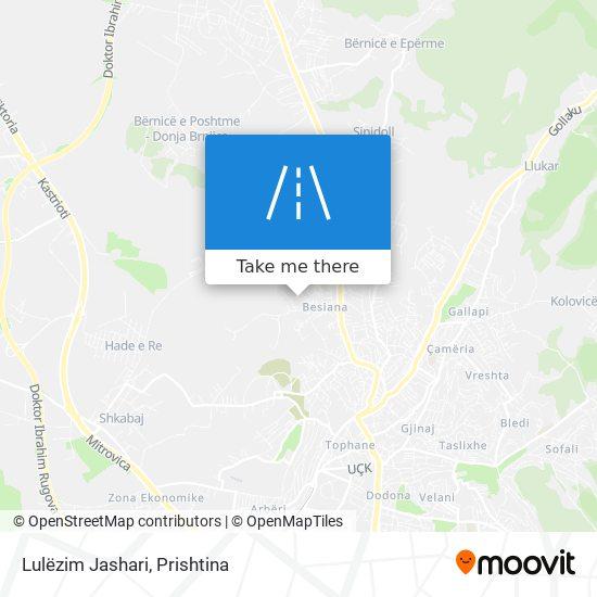 Lulëzim Jashari map