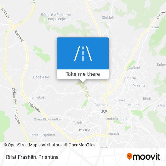 Rifat Frashëri map