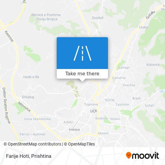 Farije Hoti map
