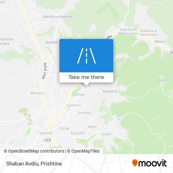 Shaban Avdiu map