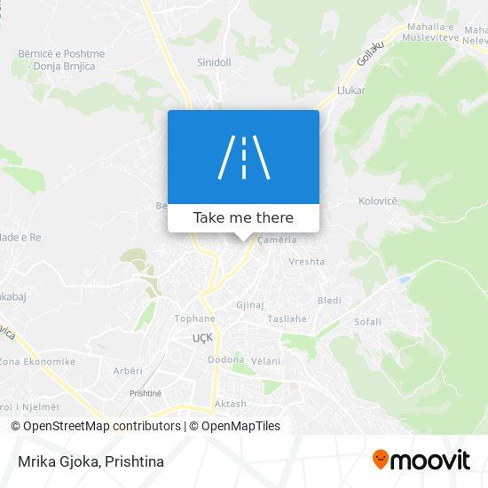 Mrika Gjoka map
