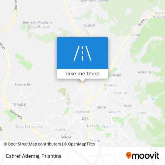 Eshref Ademaj map