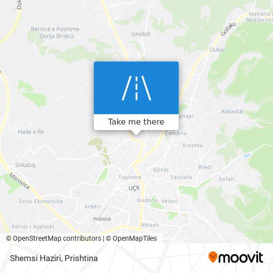 Shemsi Haziri map