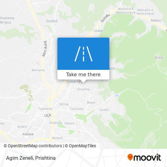 Agim Zeneli map