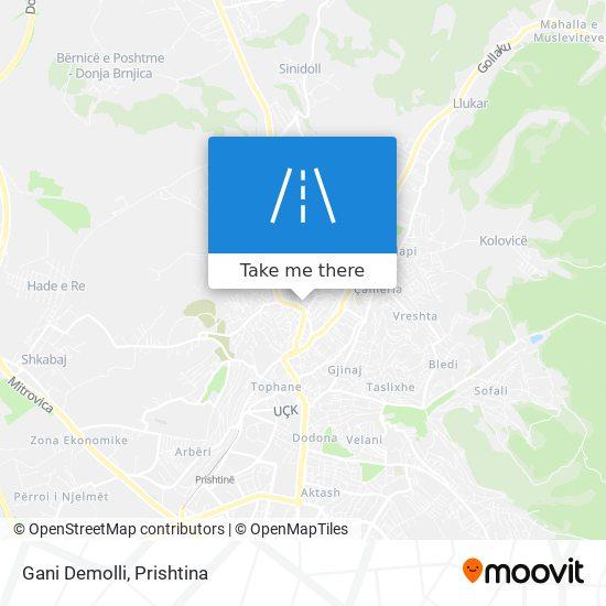 Gani Demolli map