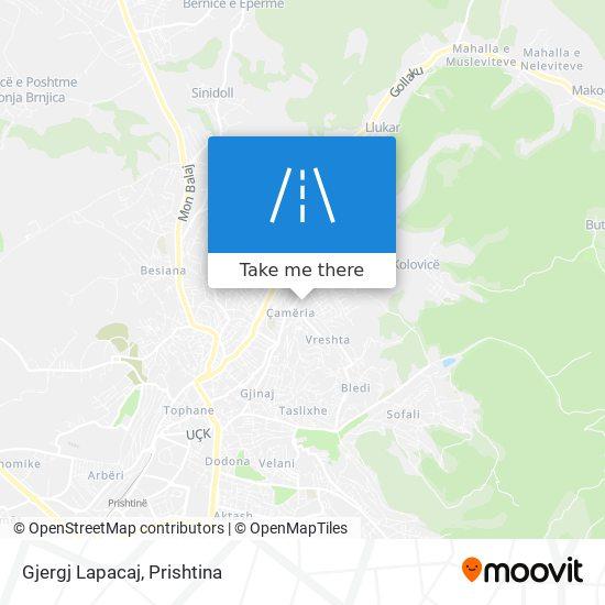 Gjergj Lapacaj map