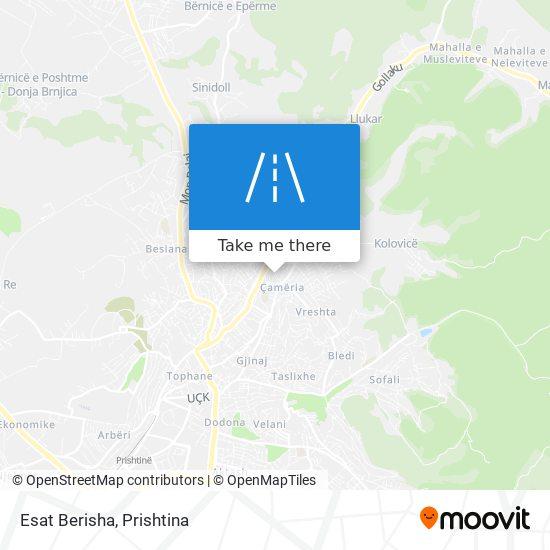 Esat Berisha map